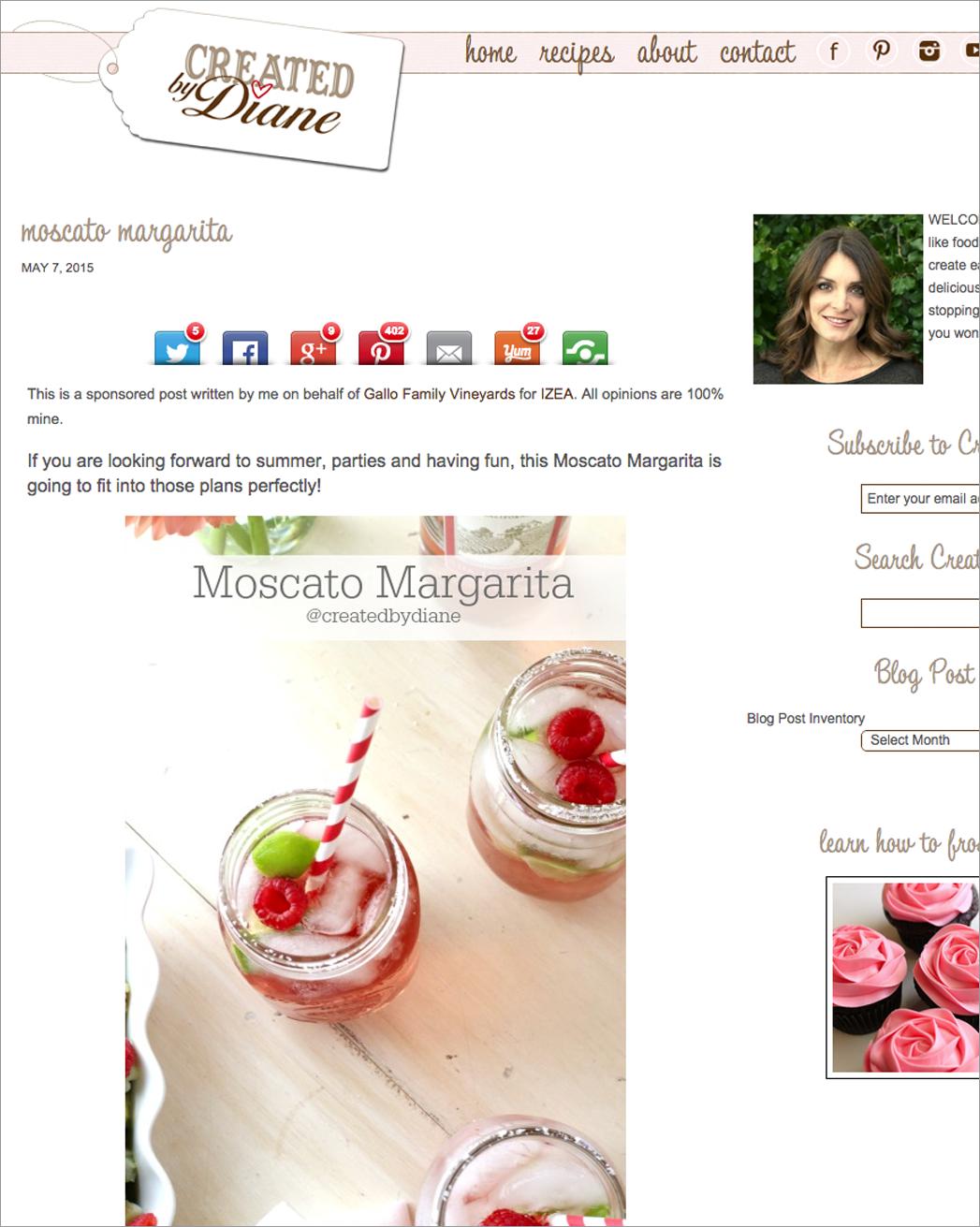 Gallo Sponsored Blog Post Example