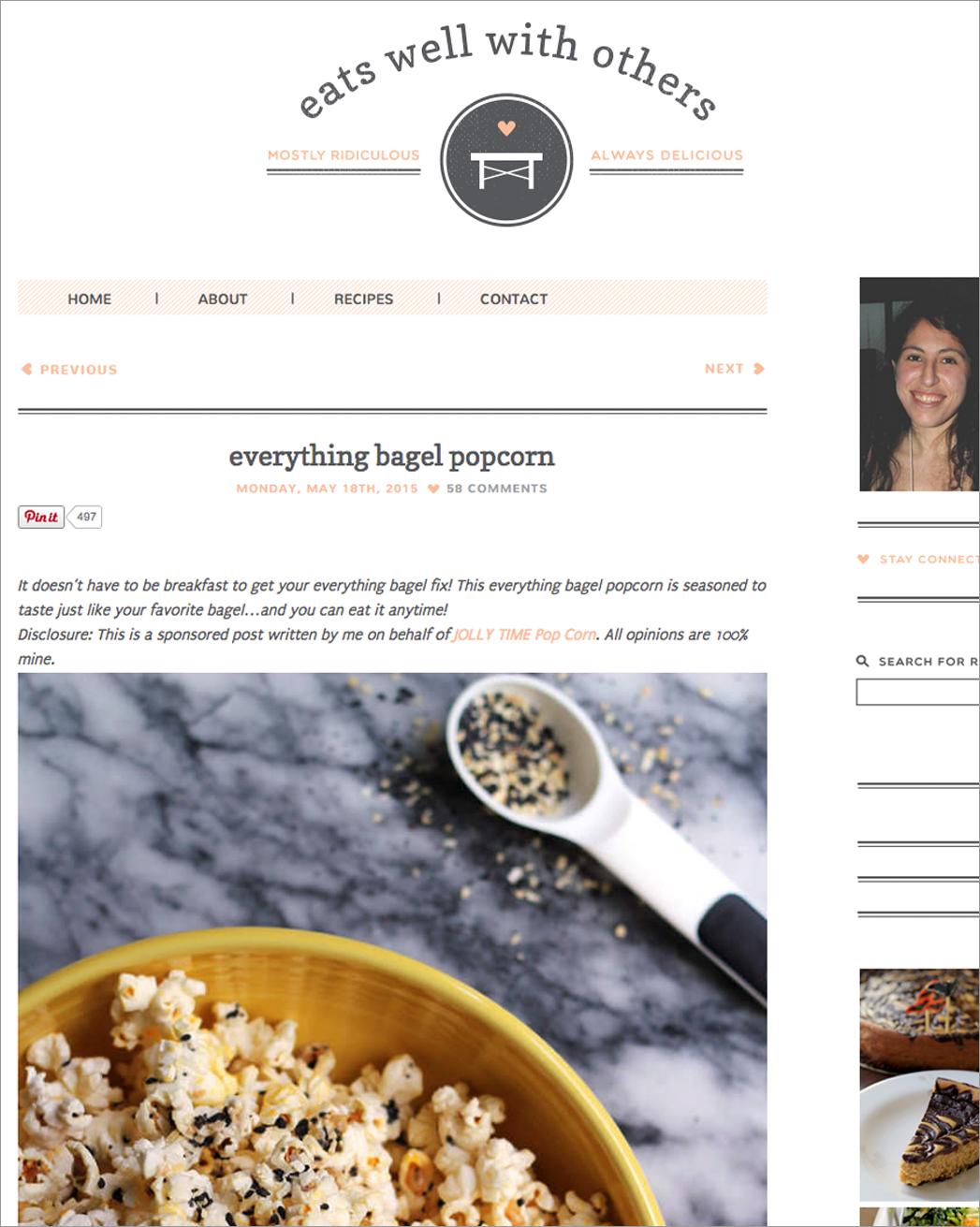 Jollytime Popcorn Sponsored Blog Post Example
