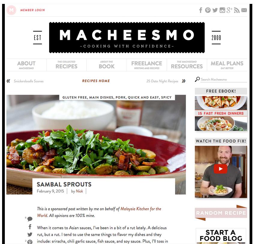 Malaysia Kitchen Sponsored Blog Post Example