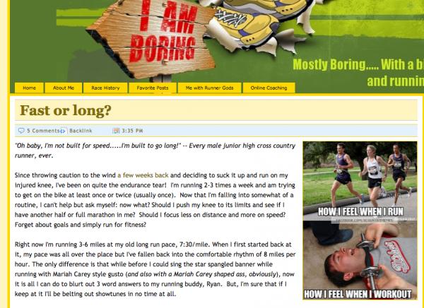 Boring Runner