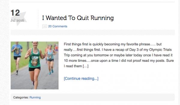 Mile Posts Quit Running