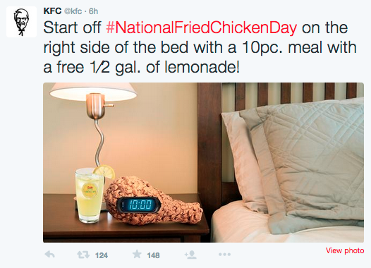 Hashtag Use KFC