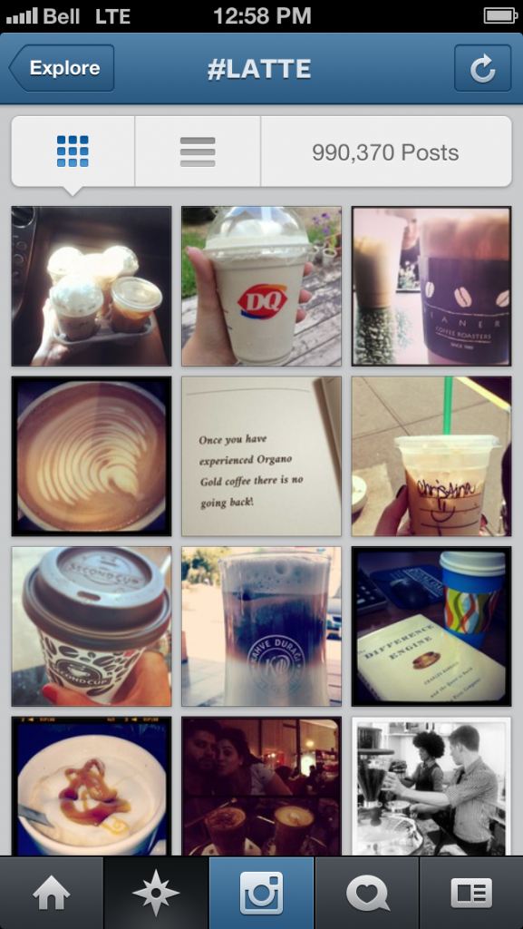 example of hashtag feed