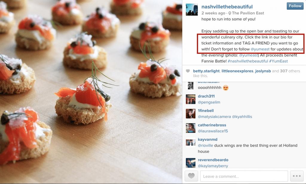 Good instagram example post