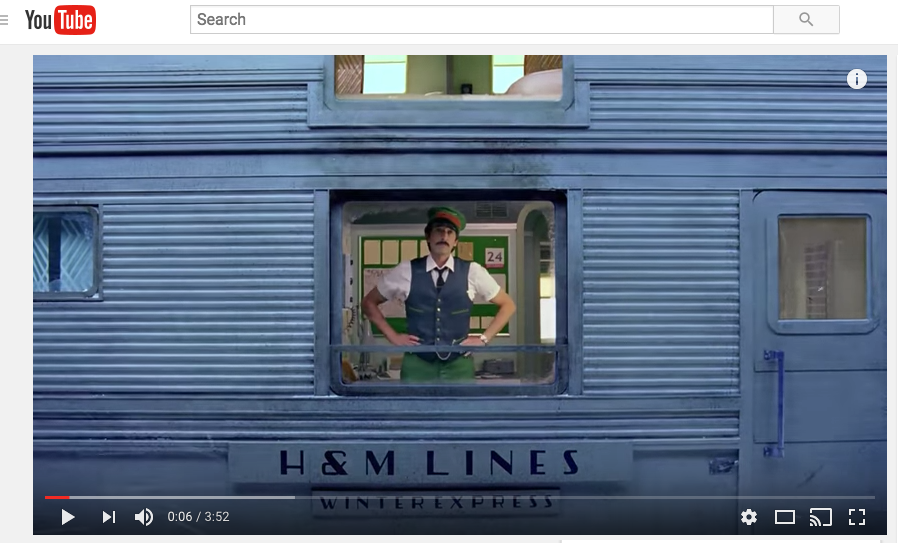 H&M Wes Anderson Branded Video Content Example