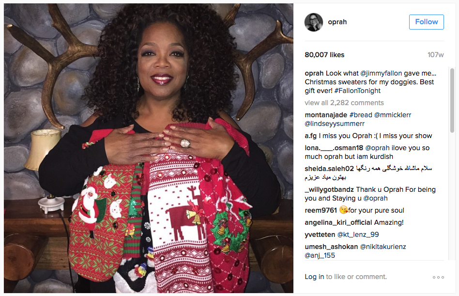 What Your Favorite Celebrities Got for Christmas - IZEA Worldwide
