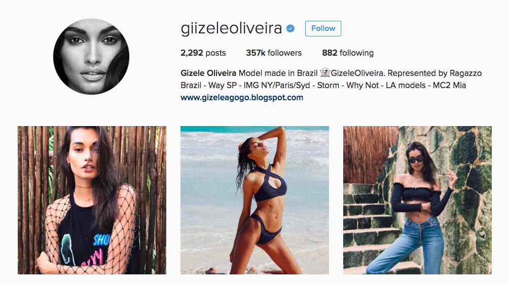 Gizele Oliveira Instagram