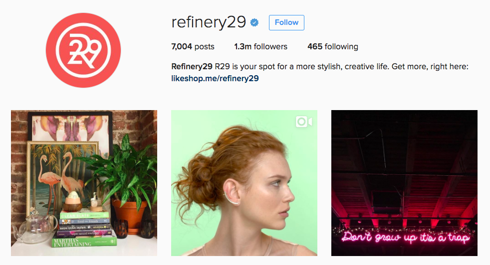 Refinery29 Instagram