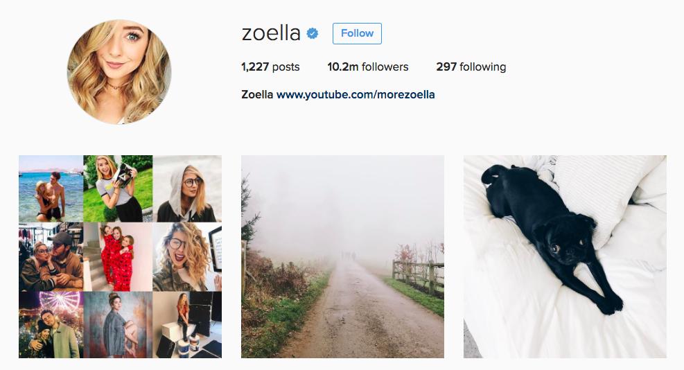 Zoella Zeebo Instagram