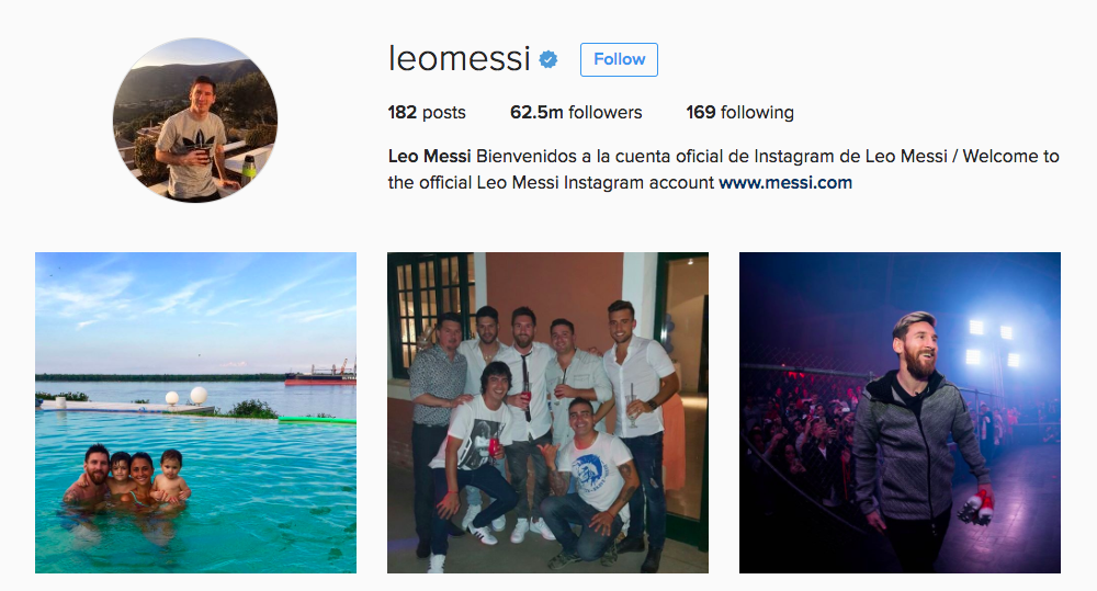Leo Messi Instagram Influencer