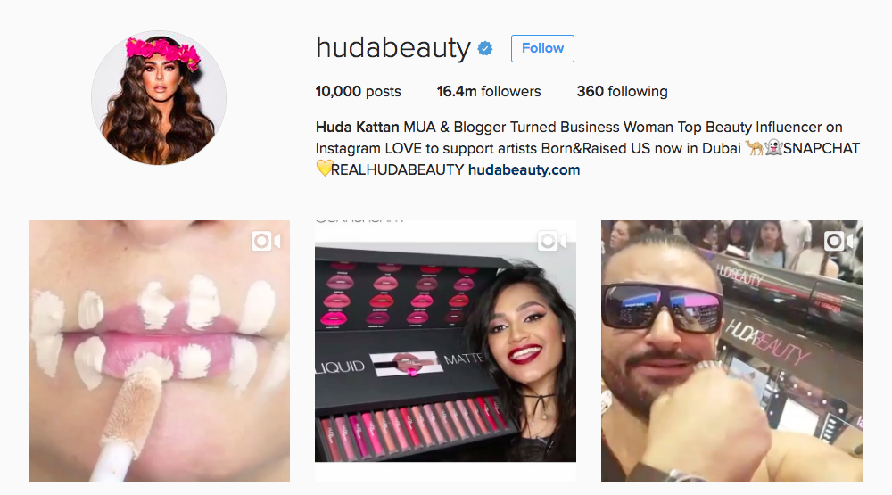 Huda Kattan Instagram Influencer