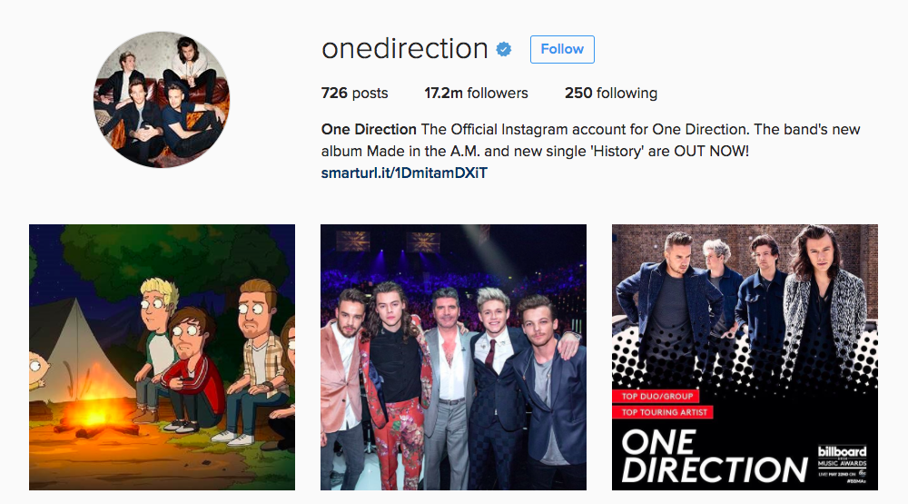 One Direction Instagram Influencer