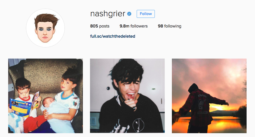 Nash Grier Instagram Influencer
