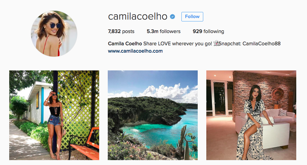 Camila Coelho Instagram Influencer