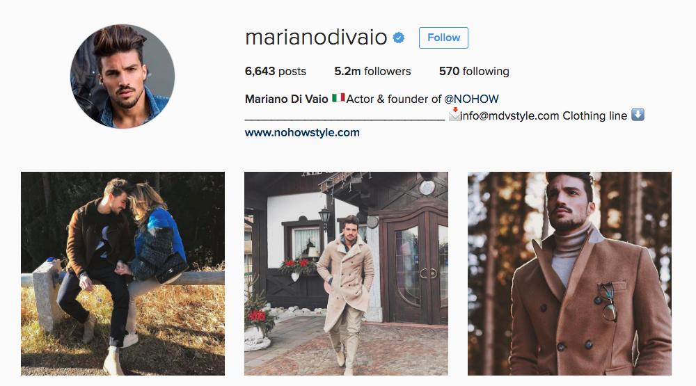 Mariano Di Vaio Instagram Influencer