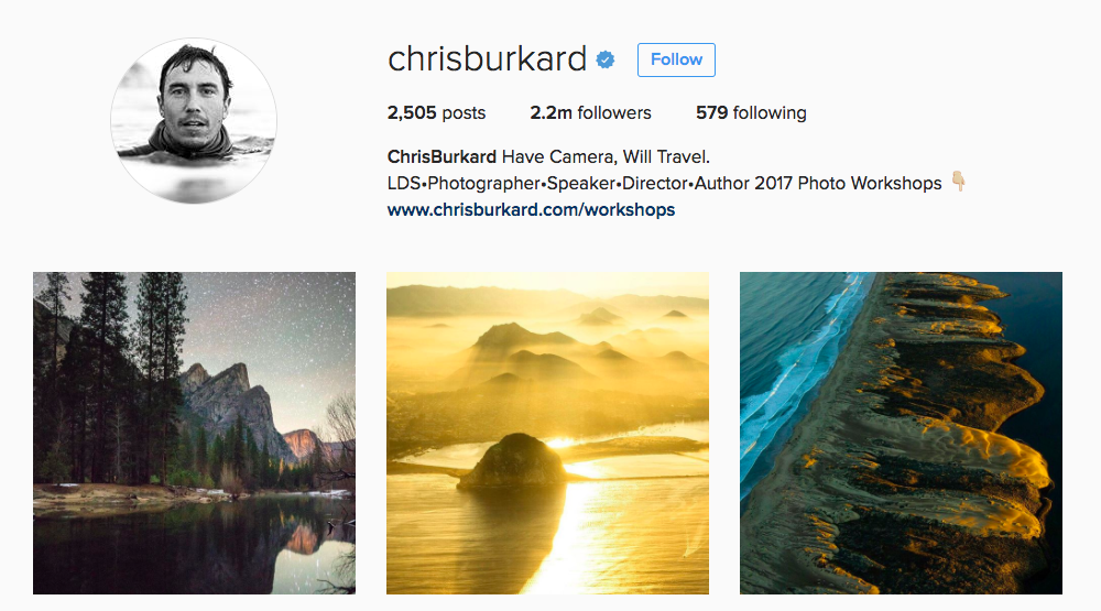 Chris Burkard Instagram Influencer