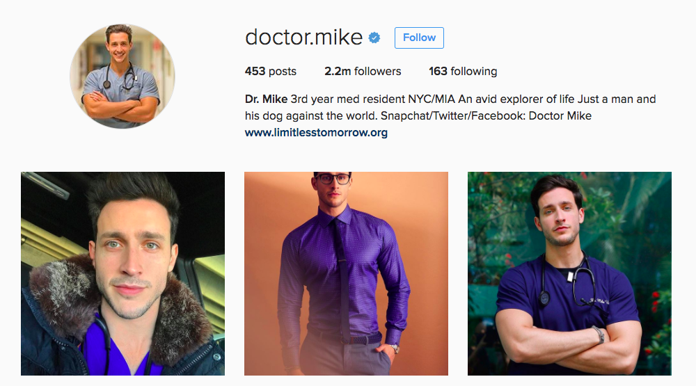 Dr. Mike Instagram Influencer