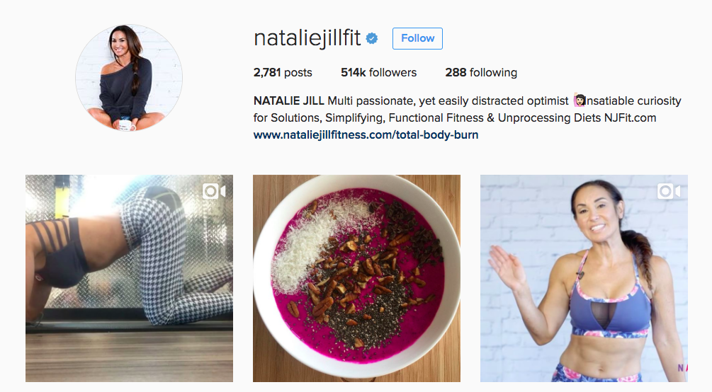 Natalie Jill Instagram Fitness Influencer
