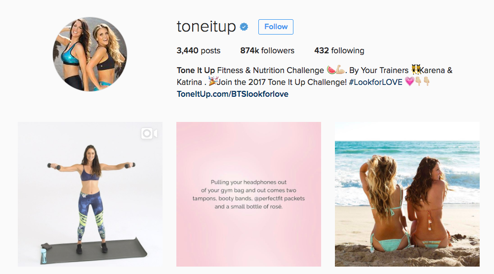 Tone It Up Girls Instagram Fitness Influencer