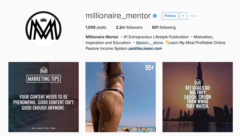 Millionaire_Mentor Entrepreneur Instagram Influencer