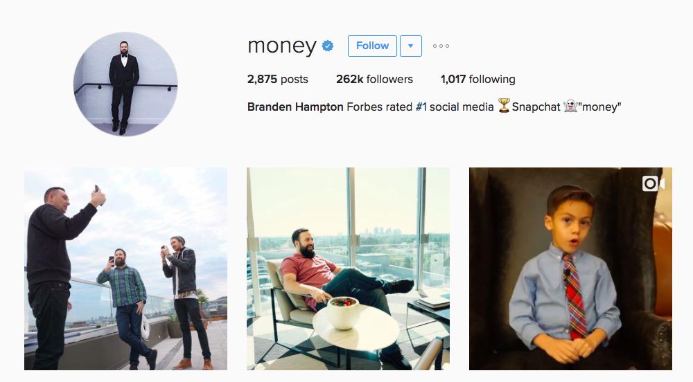 Brandon Hampton Entrepreneur Instagram Influencer