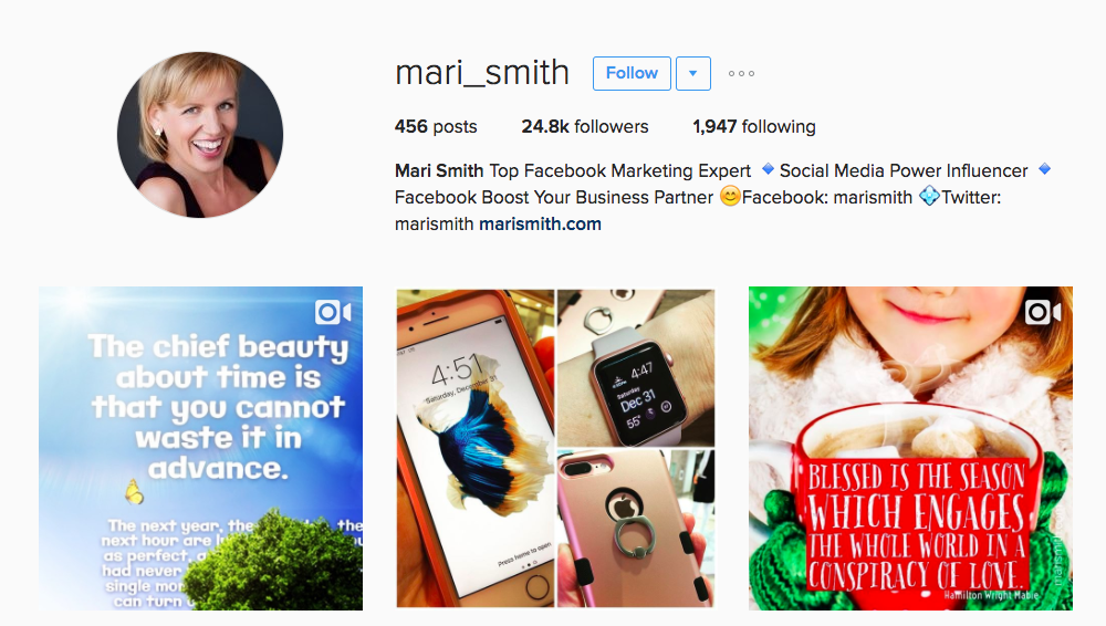 Mari Smith Entrepreneur Instagram Influencer
