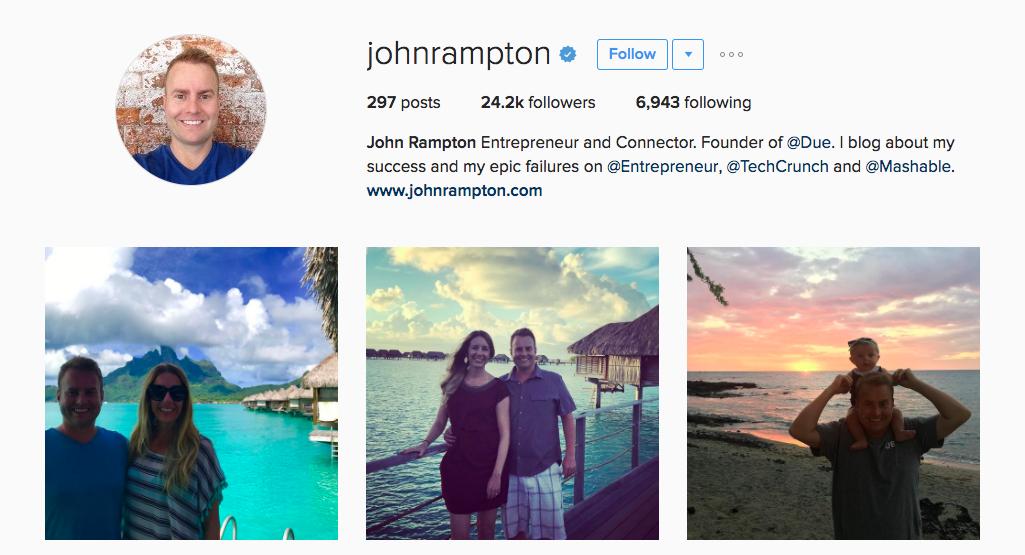 John Rampton Entrepreneur Instagram Influencer