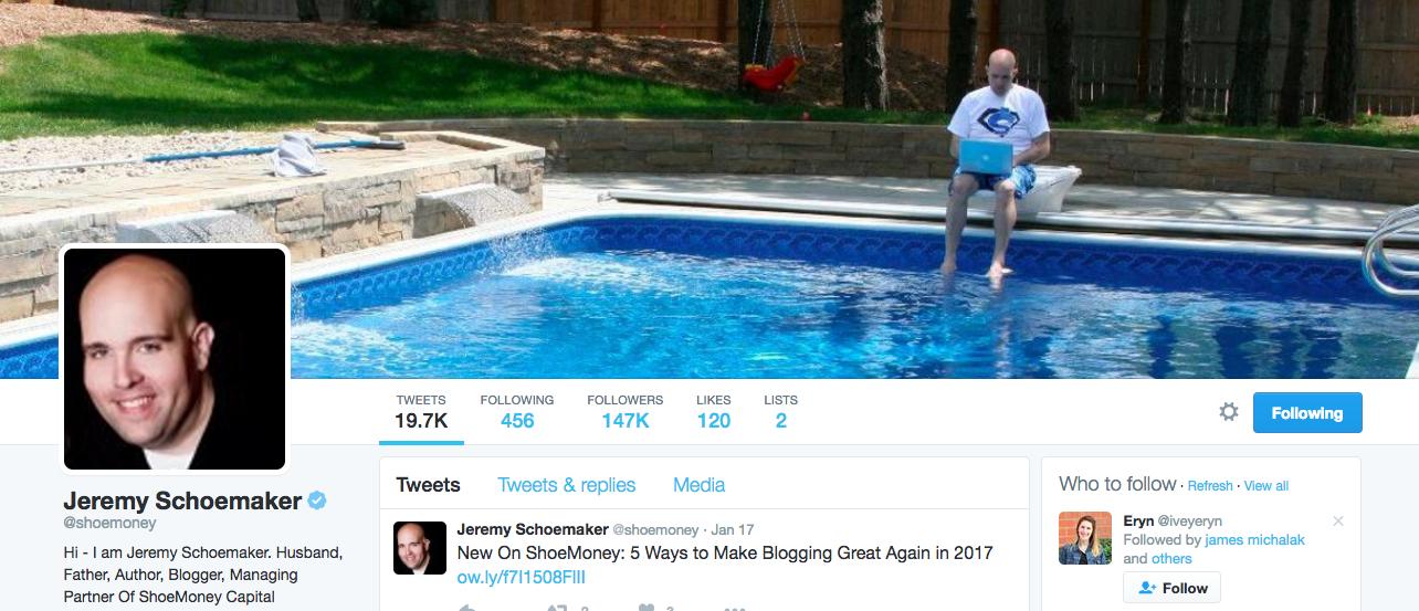 Jeremy Shoemaker Entrepreneur Twitter Influencer