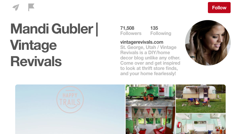Mandi Gubler Vintage Revivals DIY Pinterest Influencer