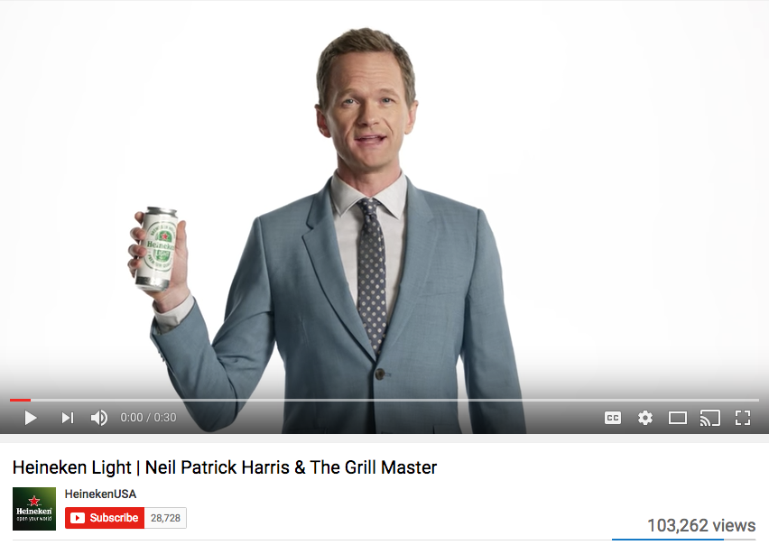 Neil Patrick Harris Celebrity Endorsement Heineken Light