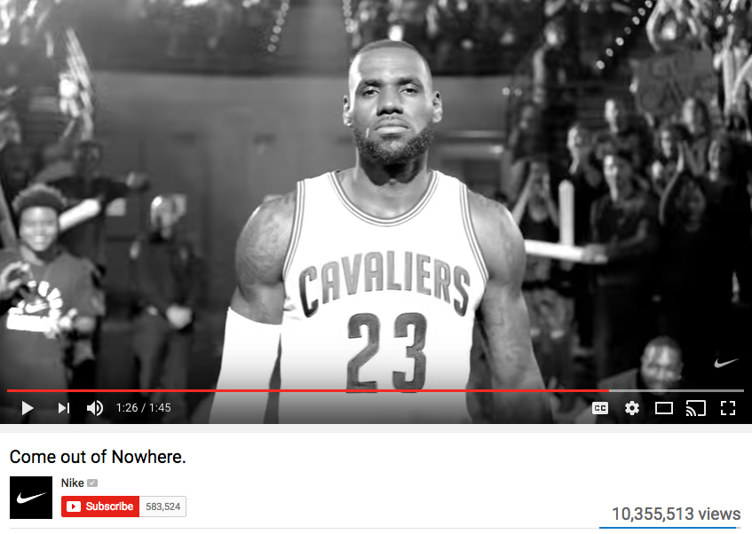 LeBron James Celebrity Endorsement for Nike