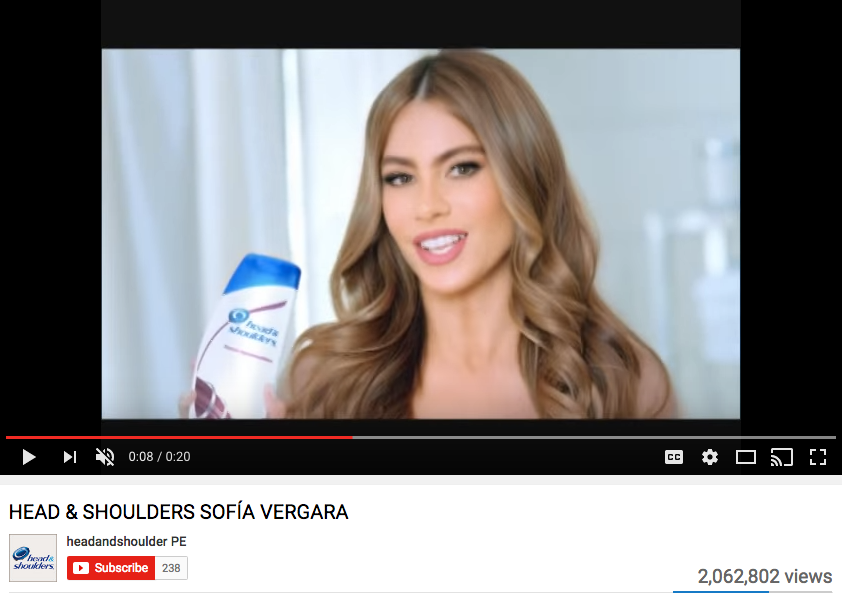 Sofia Vergara Celebrity Endorsement for Procter & Gamble