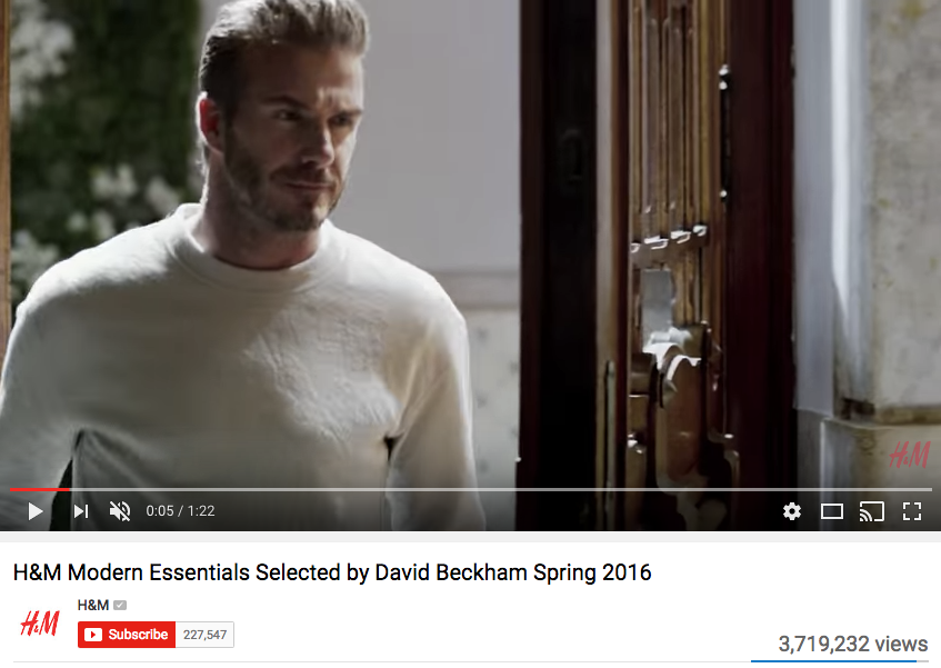 David Beckham Celebrity Endorsement for H&M
